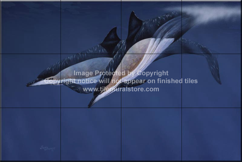 Dolphin and whale bathroom tile ideas common dolphins for Dolphin tile mural