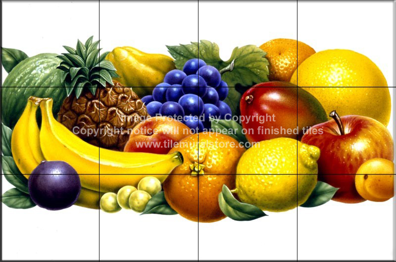 Tile Backsplash Ideas Fruit Tiles Fruits 2 Tile Mural