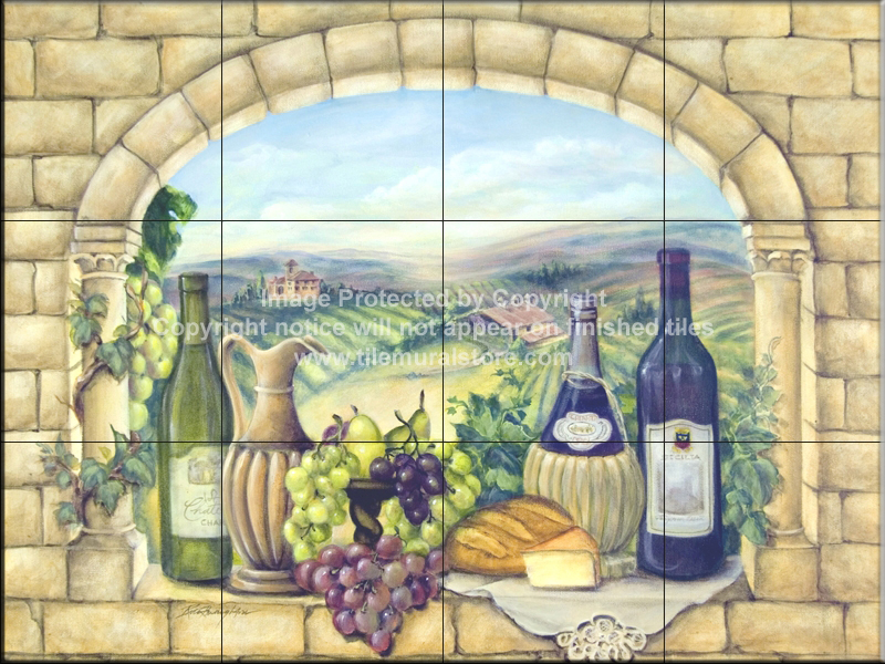 tile backsplash kitchen tile ideas tuscan wine tile mural