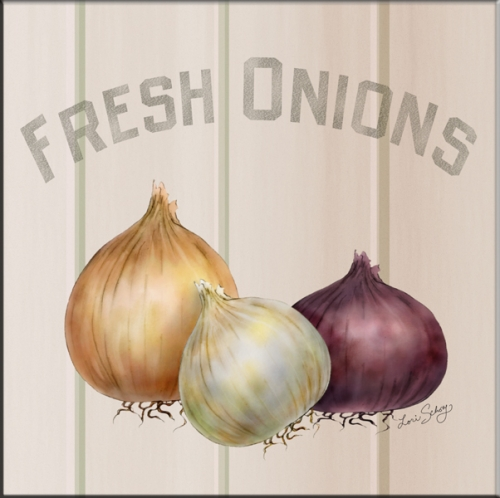 Fruits And Vegetable Accent Tiles Ls Fresh Onions