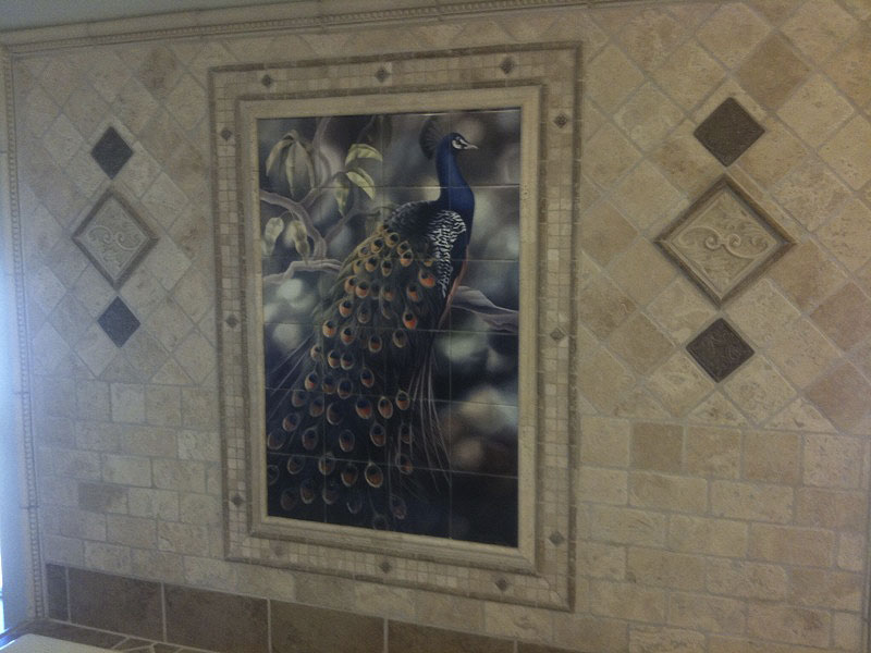 backyard bird decorative wall tiles peacock tile mural