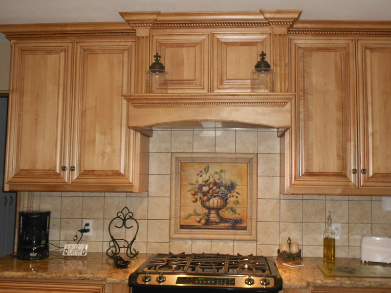 decorative tile backsplash kitchen tile ideas fruit bowl tile