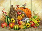 Autumn's Bounty    - Tile Mural