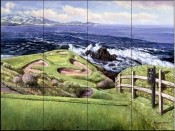 7th At Pebble Beach    - Tile Mural
