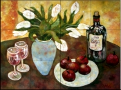 Wine Still Life    - Tile Mural