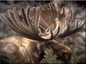 Moose Portrait    - Tile Mural