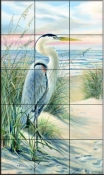 Heron Beach    - Tile Mural