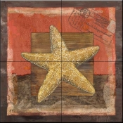 PB- Beaded Starfish    - Tile Mural