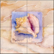 Summer Conch    - Tile Mural