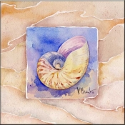 Summer Nautilus - Accent Tile