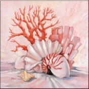 Coral Still Life 1 - Accent Tile