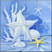 Sea Star 1    - Tile Mural