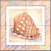 Bordered Shell Helmet    - Tile Mural