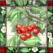 Cherries    - Tile Mural