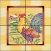 Farmhouse Rooster    - Tile Mural