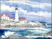 Portland Head Lighthouse    - Tile Mural