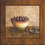 Bowl of Cherries   - Tile Mural