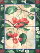 Florence Cherries    - Tile Mural