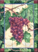 Red Grapes    - Tile Mural