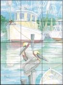At Dock Miss Lucy    - Tile Mural