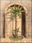 Romanesque Palm 2    - Tile Mural