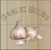 LS-Garlic Bulbs   - Tile Mural