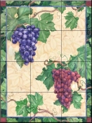 Grapes - Mix - Tile Mural