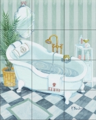Claw Tub    - Tile Mural
