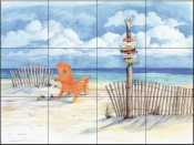 Beach Signs - Oceanview - Tile Mural