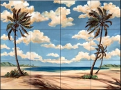 Palm Breeze 3    - Tile Mural