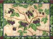 Blackberries    - Tile Mural