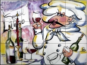 MT-Wine Chef    - Tile Mural