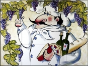 MT-Vinyard Chef    - Tile Mural