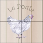 La Poule-Chicken   - Tile Mural