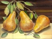 Golden Pears    - Tile Mural