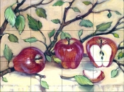 Juicy Apples    - Tile Mural