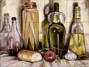 Pasta and Olive Oil    - Tile Mural