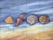 Four Shells    - Tile Mural