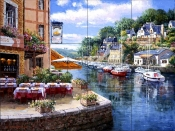 Afternoon Pont Aven    - Tile Mural