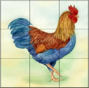 Rooster 4  - Tile Mural