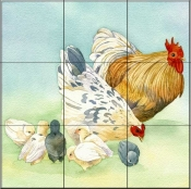 Rooster 1   - Tile Mural