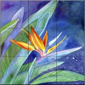 Bird of Paradise   - Tile Mural