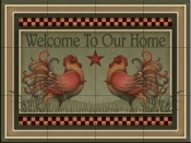Welcome Roosters   - Tile Mural