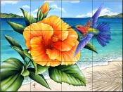 Beauty and Beach   - Tile Mural