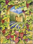 Castle Vineyard   - Tile Mural