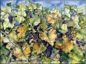 Autumn Grapes   - Tile Mural