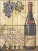 Vineyards II   - Tile Mural