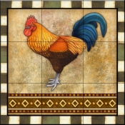 Fancy Rooster 1   - Tile Mural