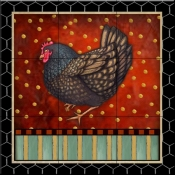 Fancy Rooster 3   - Tile Mural