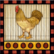 Fancy Rooster 5   - Tile Mural
